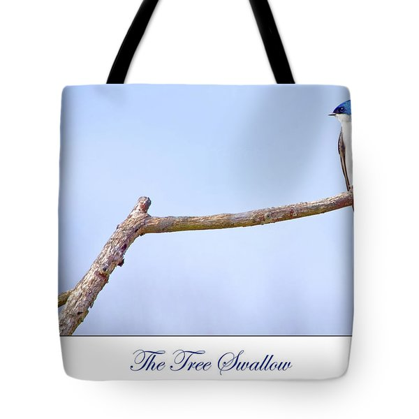 Tree Swallow On Branch Tote Bag