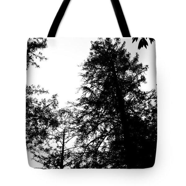 Tree Tops In Monotone Tote Bag