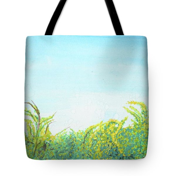 Tote Bag featuring the painting Tree Tops by Mary Ellen Frazee