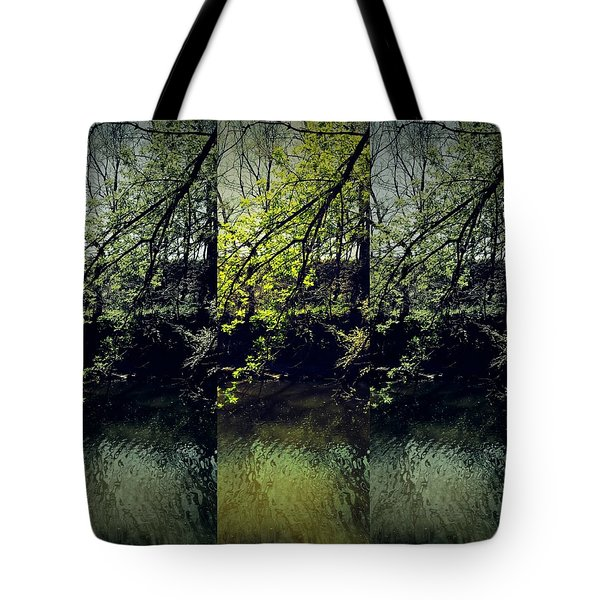 Tree Triptych Tote Bag