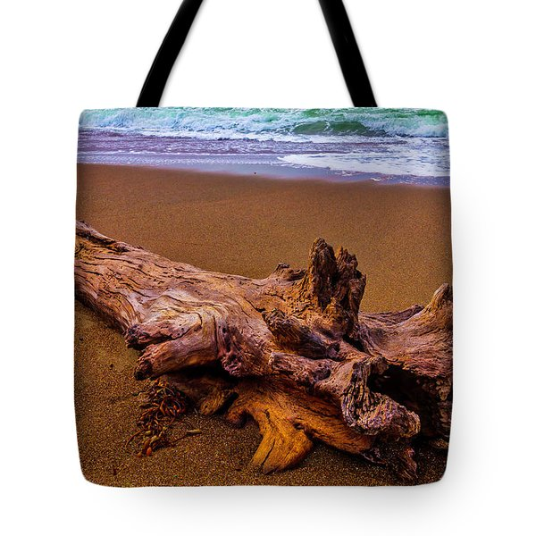 Tree Trunk Driftwood Tote Bag