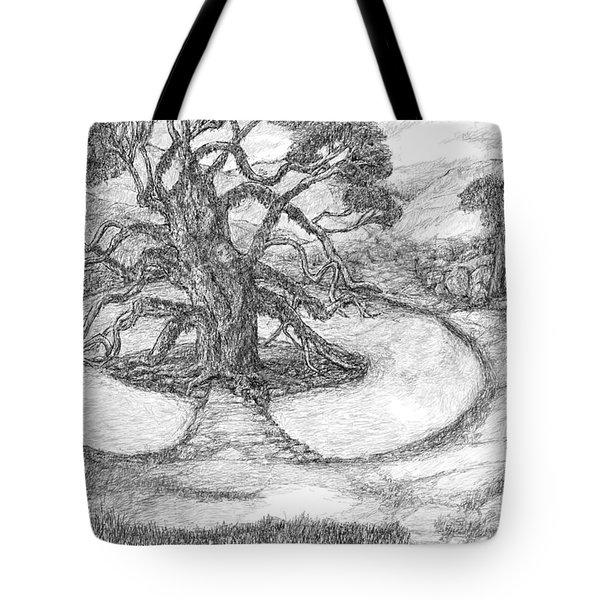 Tree Witch Is There Tote Bag