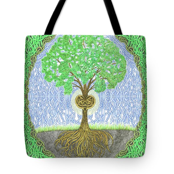 Tree With Heart And Sun Tote Bag
