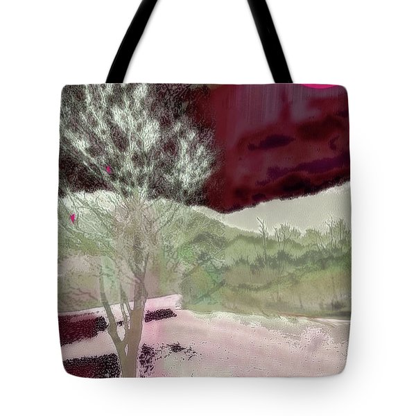 Tree Witness To Lake At Dawn Tote Bag