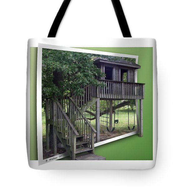 Treehouse Playground Tote Bag by Brian Wallace