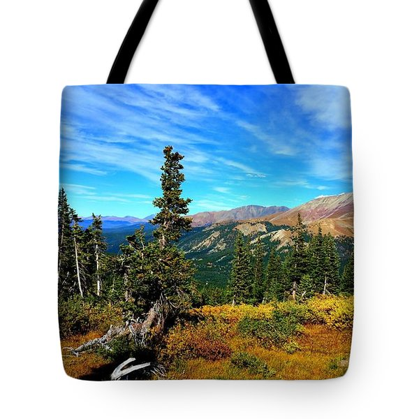 Treeline Tote Bag by Karen Shackles