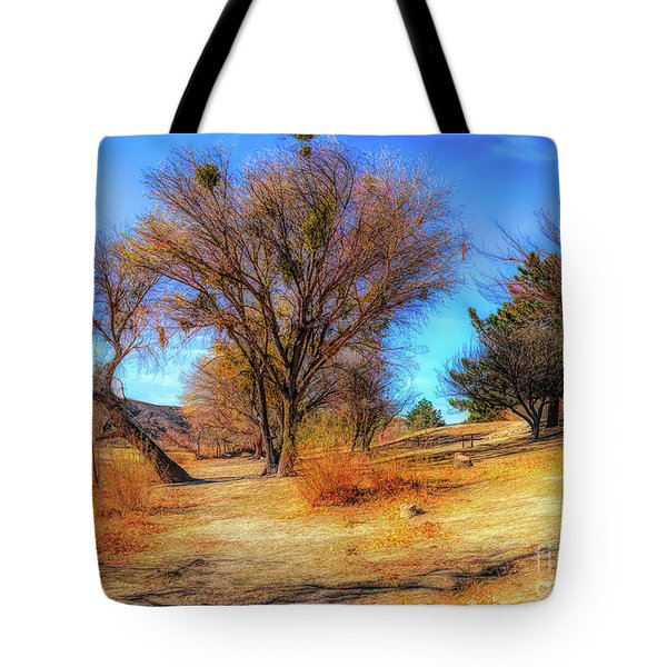 Trees Along Elizabeth Lake Tote Bag