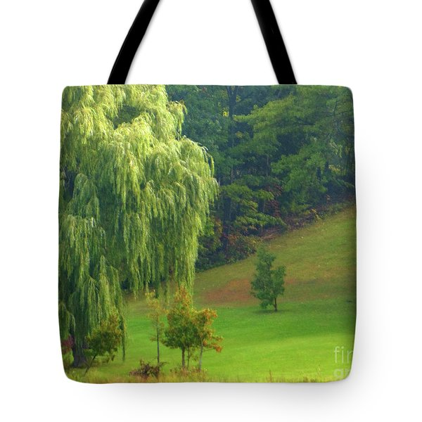 Trees Along Hill Tote Bag