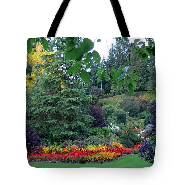 Trees And Flowers Tote Bag