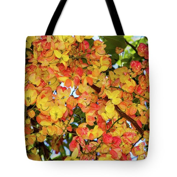 Trees And Flowers In Hawaii Tote Bag