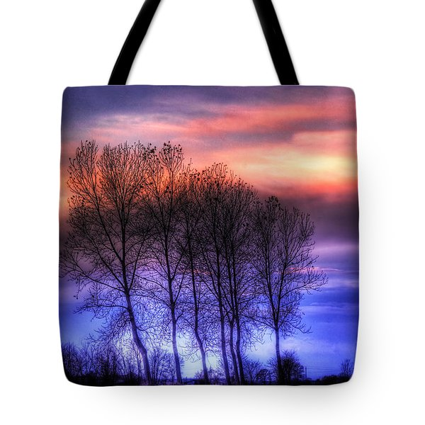 Trees And Twilight Tote Bag