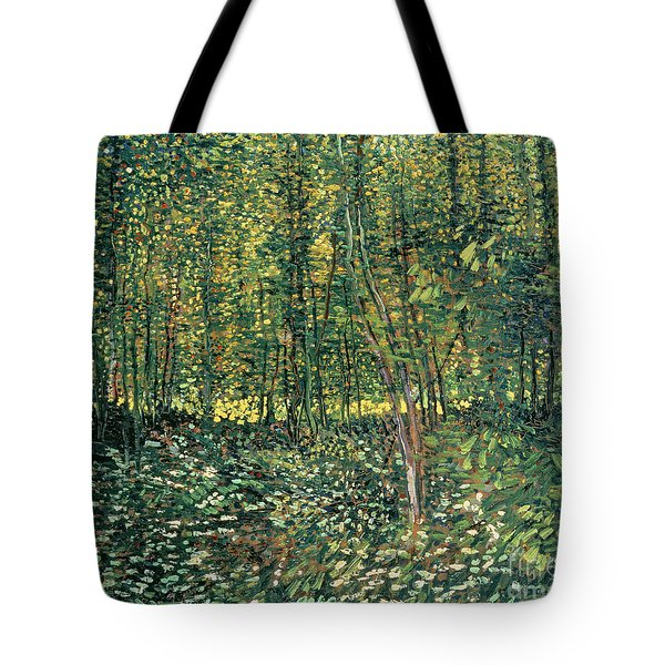 Trees And Undergrowth Tote Bag by Vincent Van Gogh