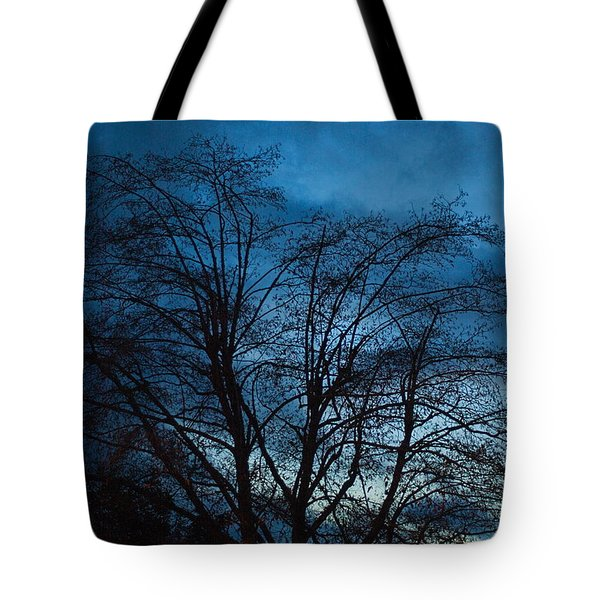 Trees At Dusk Tote Bag