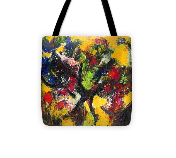 Trees At Sunset Tote Bag by Ali Hammoud