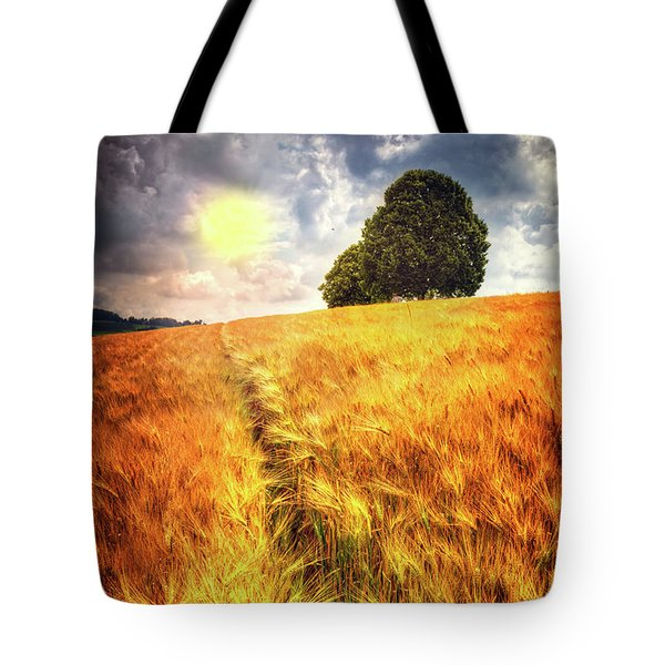 Tote Bag featuring the photograph Trees At The Top by Debra and Dave Vanderlaan