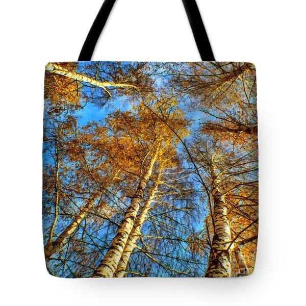 Trees Grow To The Sky Paint Tote Bag
