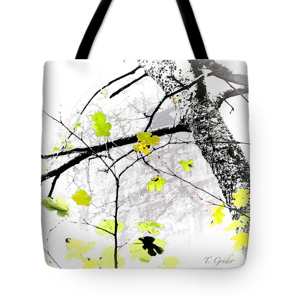 Trees Growing In Silo Abstract - Signature Edition Tote Bag by Tony Grider