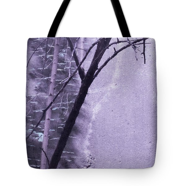 Trees Growing In Silo - Purple Landscape  Edition Tote Bag by Tony Grider