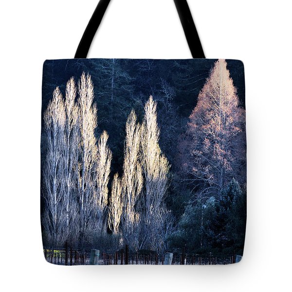 Trees In Fall Napa Valley Tote Bag by Josephine Buschman