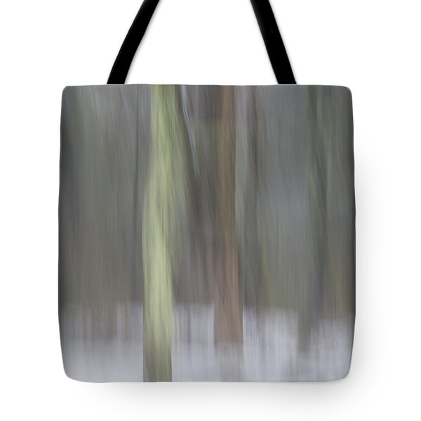 Trees In Fog II Tote Bag