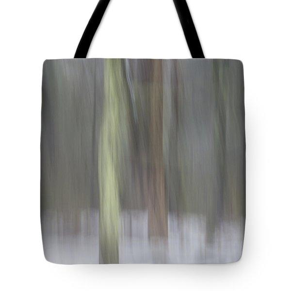 Trees In Fog II Tote Bag