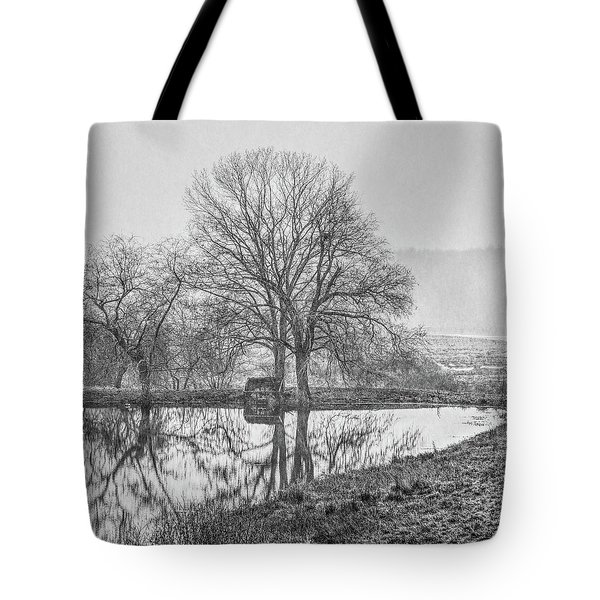 Trees In Fog Kennebunk Maine Tote Bag