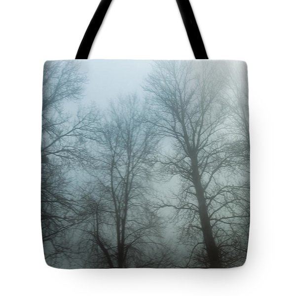 Trees In Mist Tote Bag