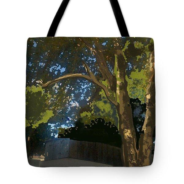 Trees In Park Tote Bag