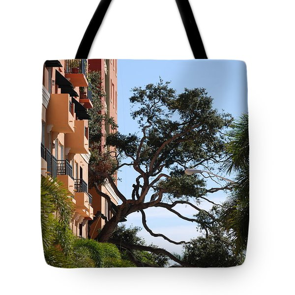Trees In Space Tote Bag by Rob Hans