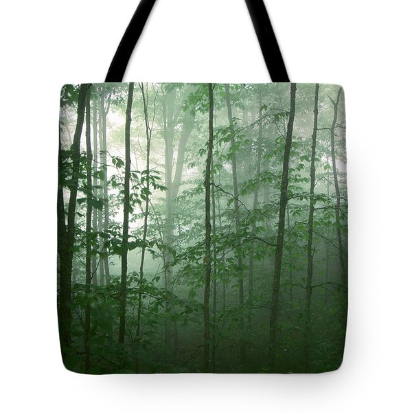 Tote Bag featuring the photograph Trees In The Mist by Joye Ardyn Durham