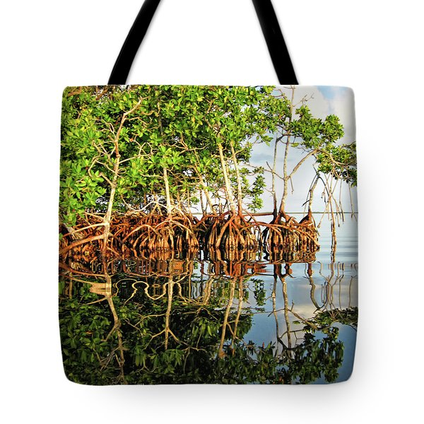 Trees In The Sea Tote Bag