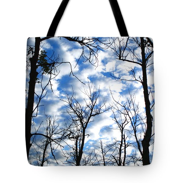 Tote Bag featuring the photograph Trees In The Sky by Shari Jardina