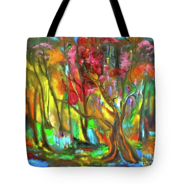 Trees Tote Bag by Jenny Lee