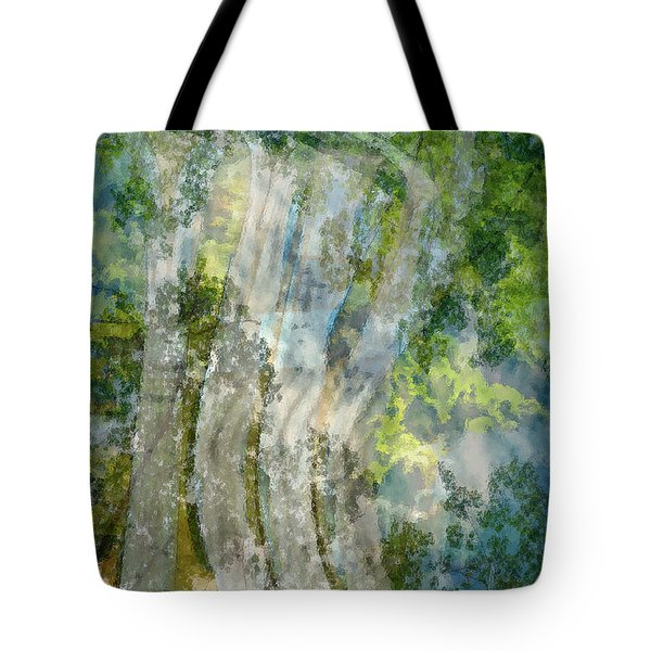 Trees Over Highway Tote Bag