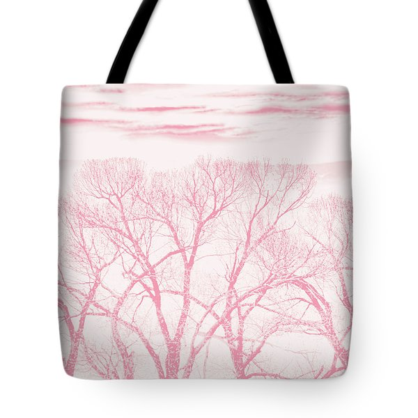 Tote Bag featuring the photograph Trees Silhouette Pink by Jennie Marie Schell