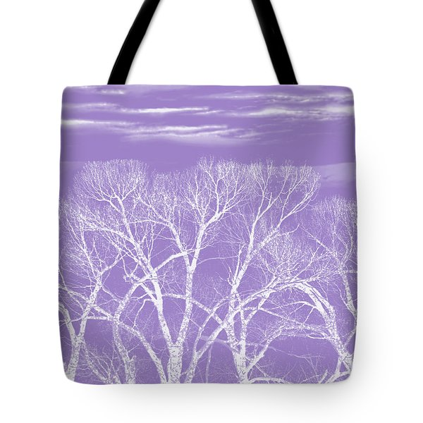 Tote Bag featuring the photograph Trees Silhouette Purple by Jennie Marie Schell