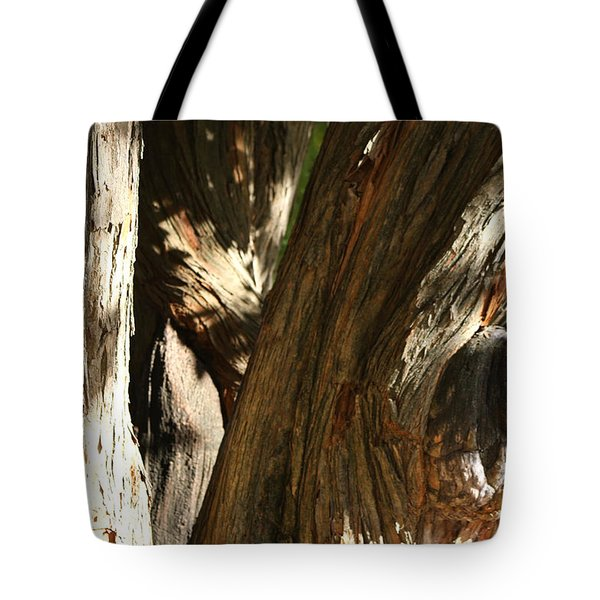 Trees Trunks Tote Bag by Michele Wilson