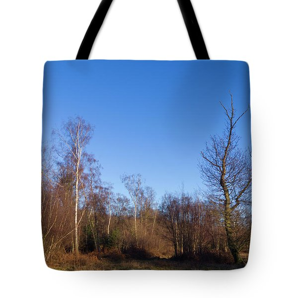 Trees With The Moon Tote Bag
