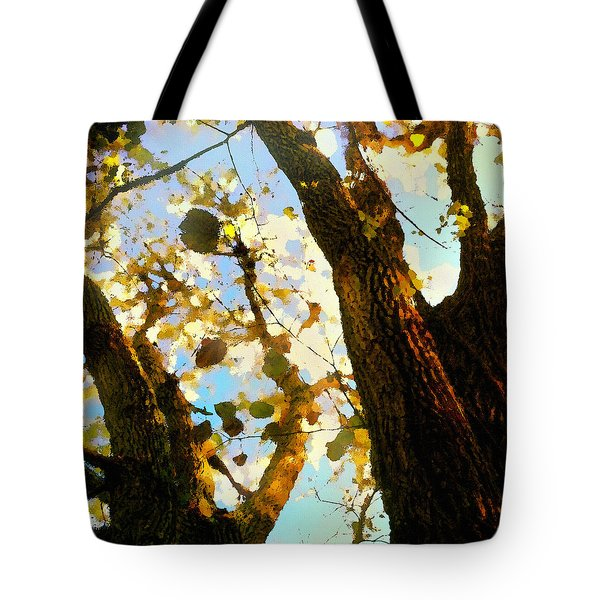 Treetop Abstract-look Up A Tree Tote Bag