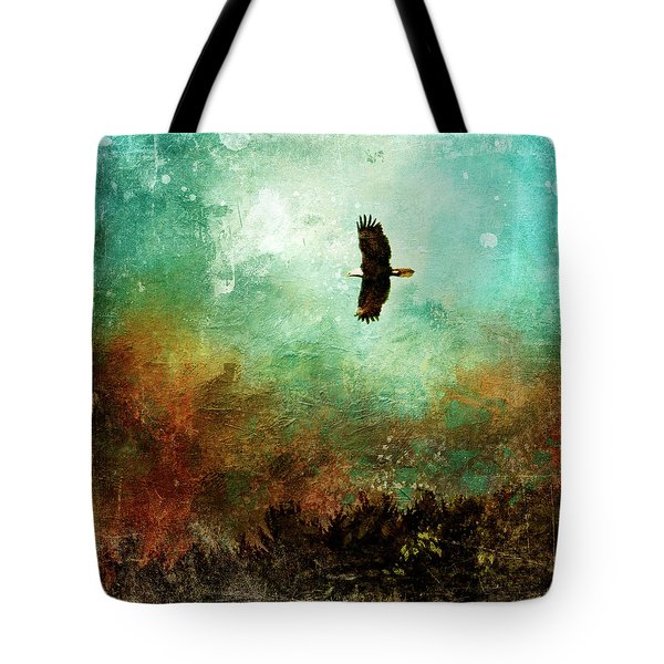 Treetop Eagle Flight Tote Bag