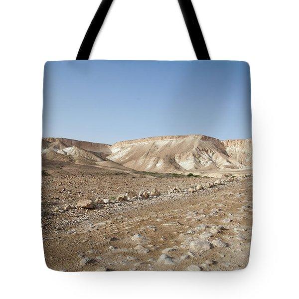 Trekker Alone On The Wild Way Tote Bag