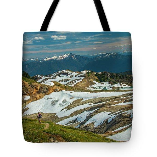 Trekking Ptarmigan Ridge Tote Bag