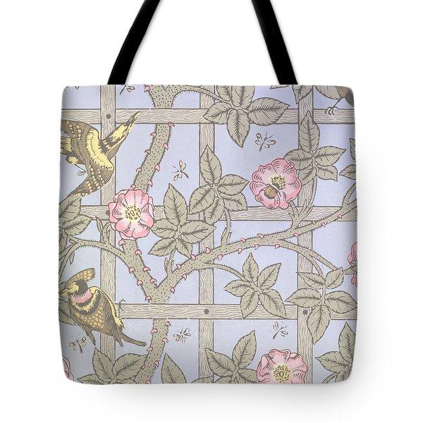 Trellis   Antique Wallpaper Design Tote Bag by William Morris