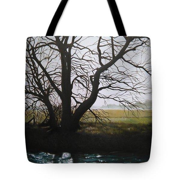 Trent Side Tree. Tote Bag