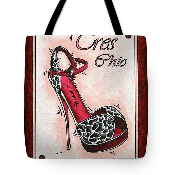 Tres Chic By Madart Tote Bag by Megan Duncanson