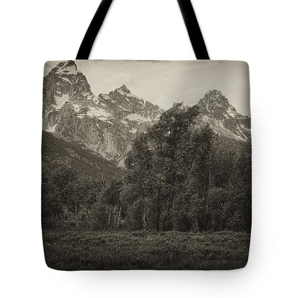 Tote Bag featuring the photograph Tres Tetons by Hugh Smith