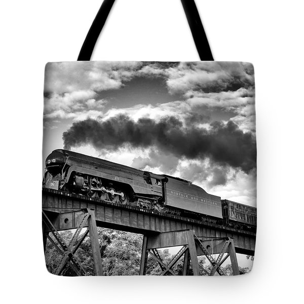 Trestle Crossing Tote Bag by Alan Raasch