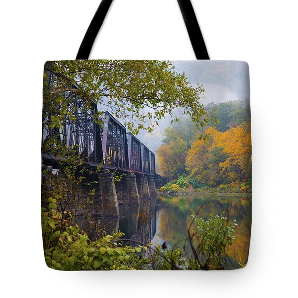 Trestle In Autumn Tote Bag by Hugh Smith