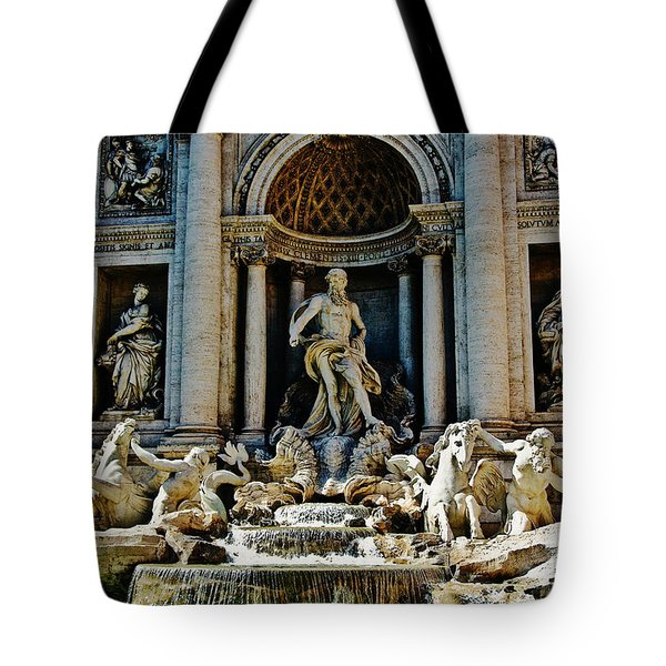 Tote Bag featuring the photograph Trevi Fountain Vertical  by Harry Spitz