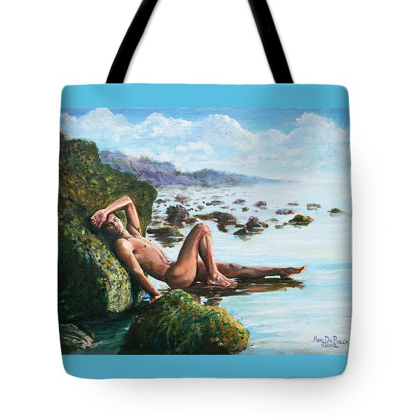 Trevor On The Beach Tote Bag